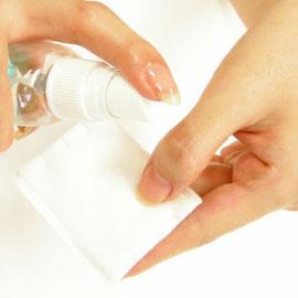 爪 コットン 拭く