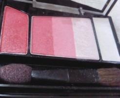 アイシャドウ 印象 暖色系 赤 ピンク